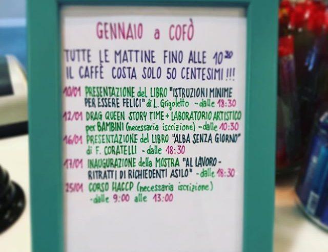 Gennaio a Cofò: calendario degli eventi